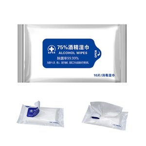 Desinfección Portable 75% hisopos con alcohol Pads toallitas antisépticas de limpieza Limpiador Desinfectante Esterilización Salud Inicio Wet Wipes