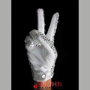 Fashion-MJ Michael Jackson Billie Jean Single Side Shinning Rhinestone Glove