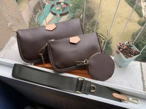Kadın çanta çantalar favori poşet 3adet donatıları crossbody çanta vintag omuz çantaları m44823 oksitleyici deri 3 renk kemerler