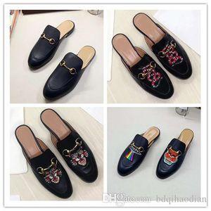 2020 мужские роскошные дизайнерские тапочки бренд мех Princetown тапочки женские из натуральной кожи плоские тапочки кроличья шерсть повседневная обувь