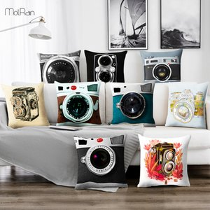Square Decorative Pillows Camera Printed Cushion Cover for Sofa Car Throw Pillow Case Modern Home Decor Fashion Cushions Decor