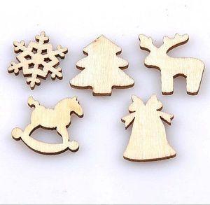 50 Stück Holz Weihnachten Form Fertigkeit Scrapbooking Weihnachten Hochzeit Geschenk Verschönerung