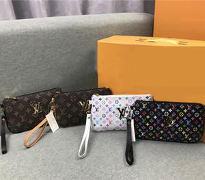 2019 moda bayanlar el cüzdan basit retro fermuar pu sikke çanta renk metal mektup uzun cüzdan