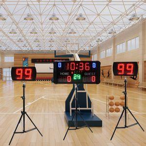 Puanı için GANXIN LED Misafir + Home Dijital basketbol skorbord, Dönem, Zaman, Faul ve 24s Saatler Shot