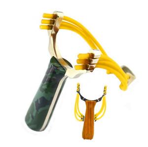 Камуфляж Slingshot Мощный Sling Shot алюминиевого сплава лук катапульта Игры на улице Охота Деревянные зерна Slingshot Home Decor GGA3101-2