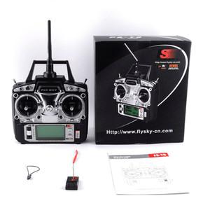 Flysky FS-T6 Modalità FS T6 2 6ch 2.4G W / LCD Trasmettitore schermo con ricevitore FS R6B Per aerei Heli Drone Quadcopter SPORT GIOCATTOLI