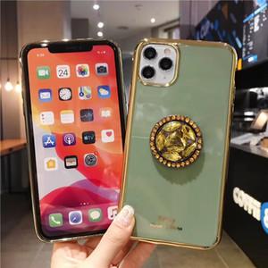 아이폰 (12)에 대한 내진성 전화 케이스 미니 (11) 프로 맥스 X가 XR X 럭셔리 라인 스톤 보호 쉘의 아이폰 SE 2020 7 8 플러스