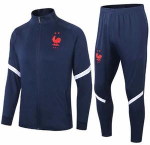 Survetement France спортивный костюм куртка 2021 мужской футбольный тренировочный костюм 20 21 высокое качество с длинным рукавом предматчевые футбольные зимние брюки комплект