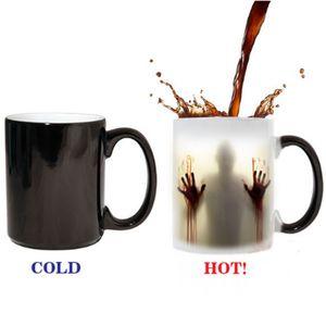 The Walking Dead Mug colore Modifica Cup creativo sensibile al calore 11 once in ceramica tazza di caffè Sorpresa regalo Mug Horrible