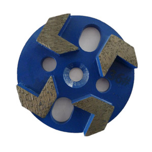 KD-U30 9 Pieces 3 Inch D80mm Universal Diamond Polishing Pads with Four Arrow Segments Diamond Grinding Disc for Concrete and Terrazzo Floor