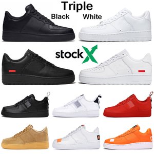 nike air force airforce forces 1 af1 just do it Dunk Scarpe da corsa Utility Uomo Donna triple bianco rosso all'aperto Piattaforma skateboard piattaforma sneaker sportive da uomo