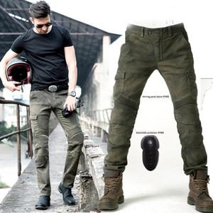 Armée uglybros vert MOTORPOOL pantalon moto équipement de protection des pantalons jeans moto de jeans UBS06 hommes de course