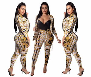 L5258 Sonbahar ve Kış Kadın Ceket Uzun kollu Patchwork Eşofman lady Moda Seti Spor suit casual suit Büyük boy kadın giyim