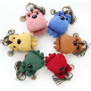 Fashion Keychains cute Key chains Bear keychain colorful patch pendant Korean version of the cute male and female car key U disk keybuckle