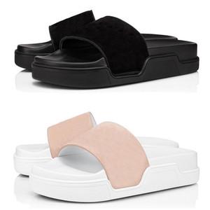 2020 red bottoms men slippers fashion slides triple black white pink spikes mens flat flip flops beach hotel platform sandals