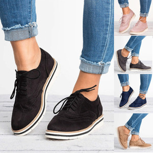 Fashion Shoes Woman Summer Round Toe Solid Color Ankle Flat Suede Casual Lace Shoe Laces Sport Shoes Purchasing