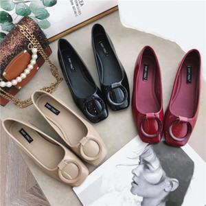 Gorgeous2019 con scarpa singola grossa Donna Autunno Joker Tender Summer Fairy Late Night Red Scoop Shoes