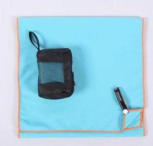Nuevo colorido fresco de fibra sensación toalla fría sensación superfino fi deportes de playa toalla de secado rápido de la aptitud de doble cara toalla verano 30 * 120cm