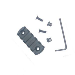 5 Slot Materiale CNC alluminio di alta qualità Picatinny / Weaver keymod Rail Section Adatto a keymod paramano Colore nero
