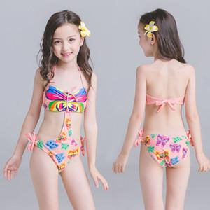 Maillots de bain fille d'une seule pièce d'impression costume enfants Maillots de bain été 1PCS fille monokini Costumes enfants bain Bébés filles Beachwear Backless