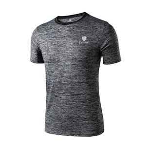 Fannai Men Short Sleeve T-Shirt Outdoor Round Collar Sports Top Quick Dry Workout Training Running Top Athletic Shirts FN25
