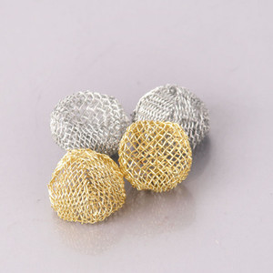 Gold Silver Pipe screens Tobacco click n vape Smoking Pipe Screen Metal Mesh Filter Net ball Pipe Net Multi Sizes 13 14 15 16 17 18 19 20mm