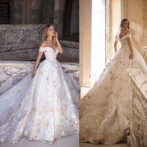 2020 Милла Nova Country Свадебные платья с плеча кружева аппликациями пришивания Свадебные платья Линия развертки поезд пляж свадебное платье плюс размер