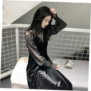 Koreanische Version retro sanfter Wind Condolegurt ins Super Feuer Rock 2020 Frühjahr neue schicke zweiteiliges Kleid Frauen