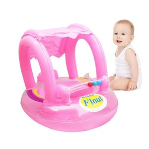Bebé inflable del asiento del bebé del verano con toldo Piscina inflable del anillo de asiento de sombra Deportes Agua Niño