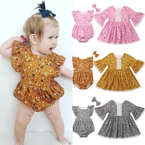 Abbigliamento Pudcoco 2019 estate della neonata sorella vestiti coordinati floreale pagliaccetto fascia abito prendisole attrezzatura casuale