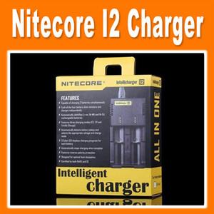 Los más vendidos Nitecore I2 cargador universal para 16340/18650/14500/26650 batería US AU de la UE enchufe UK 2 en 1 cargador de batería Intellicharger