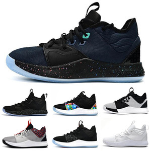 2019 Nuevo Paul George PG 3 3S PALMDALE III P.GEORGE Zapatillas de baloncesto PG3 Starry Blue Orange Red Black Zapatillas deportivas Tamaño 40-46