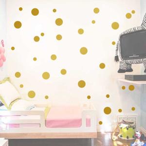 Bolinhas de ouro Sala de Crianças Quarto de Bebê Adesivos de Parede Crianças Home Decor Decalques De Parede Do Berçário Adesivos Para Crianças Papel De Parede