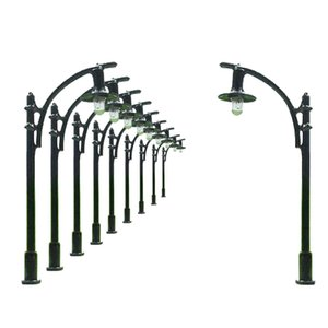 10pcs Model Trains Lamppost lamp HO N 5.5cm 12v L309 model outdoor lights model buliding kit street light