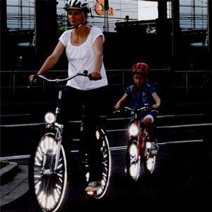 Bicicleta Mountain Bike Riding Wheel Rim Spoke Mount Clip Tube Advertencia Luz Tira Reflector Reflectante Al aire libre 78mm