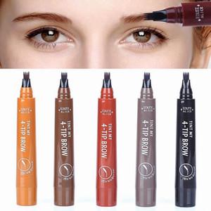 Flüssige Augenbraue-Feder Flüssigkeit Braue Enhancer Bleistift Langlebig Sweatproof Wasserdicht 5 Farben-Verfassungs-Werkzeuge Vier-köpfigen HHA-323
