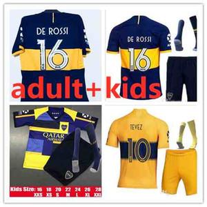 2019 2020 Boca Juniors Maillots de la camisa de fútbol 19 20 DE ROSSI mujeres y niños TEVEZ CARDONA BENEDETTO jersey de fútbol Boca Juniors PAVON kit