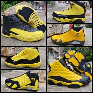 New 11 12 13 14 Mens Basketball Shoes 11s 12s 13s Bumblebee Yellow Black Trainers Sports Sneakers Designer Jumpman zapatillas de baloncesto