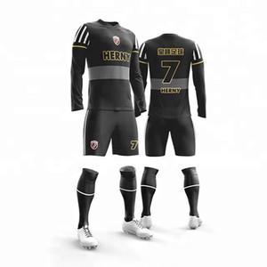 Personalizado, completamente sublimado, camiseta de fútbol Amarillo y azul uniforme de fútbol camiseta de fútbol personalizada OEM logos uniforme