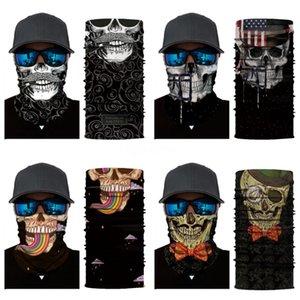 Magic Cycling Skull Scarf Mask Outdoor Headskull Scarf Sport Ski Snowboard Wind Cap Cycling Balaclavas Turban Motorcycle Face Masks P #20#914