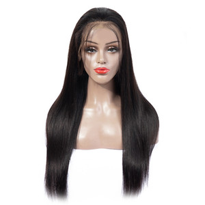 Human Hair Lace Front Wig For Woman 13*4 100% Real Brazilian Hair Wig Straight 8-24inch 10 Colors Available Factory Wholesale