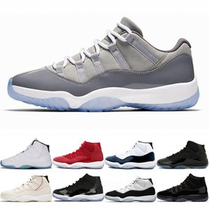 2020 new wholesale 11 Men 11s Bred Metallic Silver Concord Basketball Shoes 1 1s Travis Scotts 4s White Ceme island green 13 Sneakers