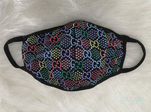 Sommer-Gesichtsmaske Designer Frauen Mädchen Damen Masken wiederverwendbar waschbar Faser Logo Druck Außen einen.Kreislauf.durchmachenschal Marke Mund-Muffel E41302