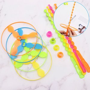 2019 Lowest price helicopter flying toys Hand push flying saucer and frisbee Hand rotation outdoor toys for Children's Day kids toys