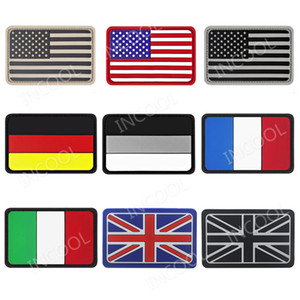 3D United Kingdom France Germany Italy American USA US PVC Flag Patch Military Morale Patch Tactical Badges Rubber Flags Patches