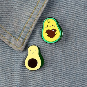 Avocado fiaba smalto brooches dei perni Faccina sorridente carino pin pin badge friendly frutti spille Regali per bambini