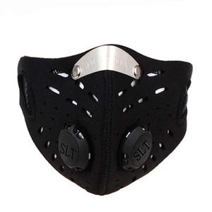 Máscaras Máscara de fiesta al aire libre de la media cara de la guarnición de carbono activado anticontaminación de la prueba de la oscuridad ciclo MTB Partido bicicletas carretera conducción deportiva