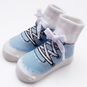 Men And Treasure Infant Ankle Sock Sports Modeling Autumn And Winter Shoe Lace Knot College Style Pure Cotton Children's Socks N