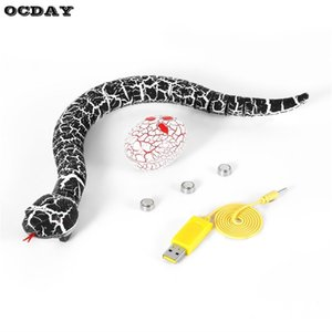 OCDAY RC Snake And Eg emote Control Rattlesnake Animal Trick Free Mistrapy Toys for Children Funny Novelty Gift New Y200317