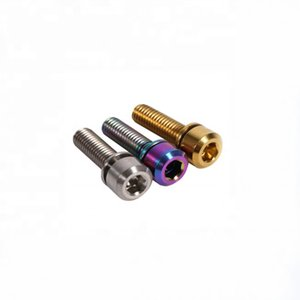 PYTITANS DIN912 Grade 5 6Al4V M5 M6 M8 Titanium Allen Hex Socket Cap Head Bolts For Bike